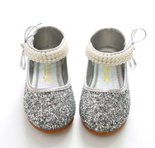 IYEAL Children Baby Toddler Girl Red Silver Glitter Party Ballet Flats Kids  Infant Sequins Glittering Show a42cf105798b