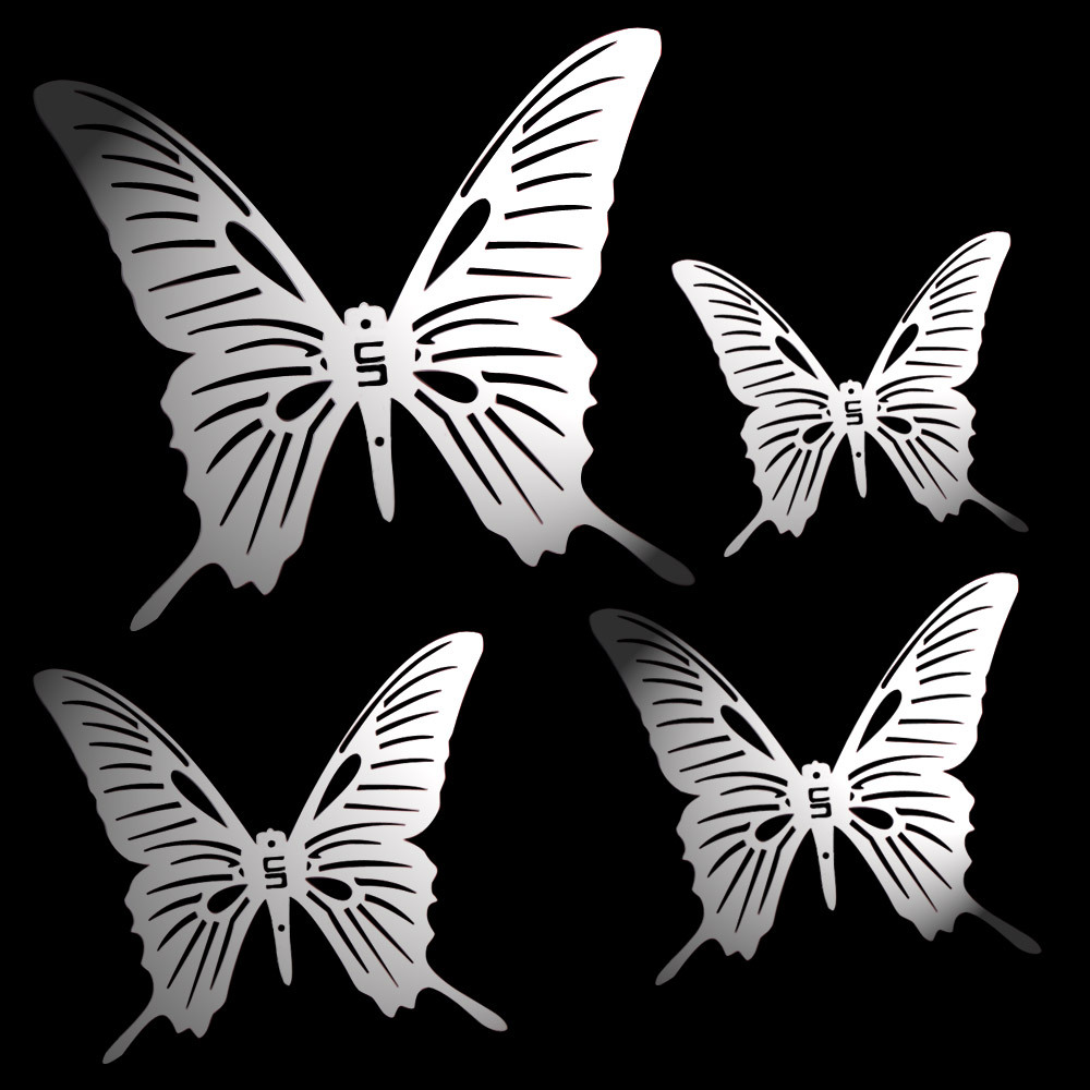 Stainless steel ornaments - Aliexpress Com Buy Stainless Steel Butterfly Windows Door Ornaments Wall Decoration Diy Bead Curtain Accessories Chandelier Accessories From