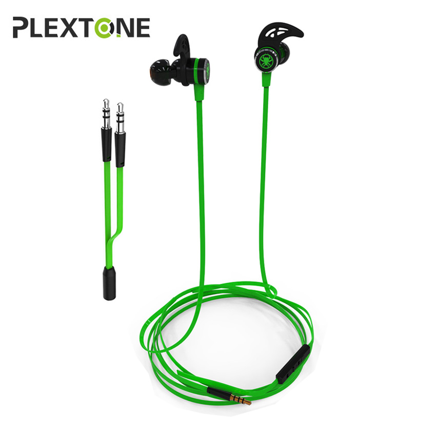 PLEXTONE G20 In-ear Gaming Earphones Stereo Headset Magnetic With Mic Wired Bass Earbuds for Computer Phone Sport super bass earphone hifi stereo sound 3 5mm earbuds in ear earphones with mic sport running headset for phone