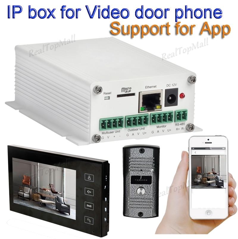 Mise à niveau sans fil wifi ip box soutien wifi, câble connexion SIP vidéo porte téléphone déverrouillage À Distance filaire vidéo intercom systèmes