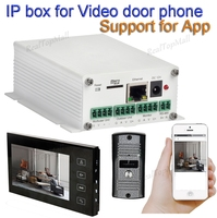 Upgrade wireless wifi ip box support wifi,cable connection SIP video door phone Remote unlocking wired video intercom systems