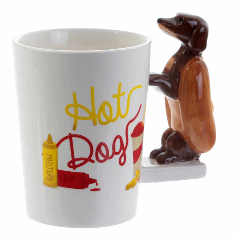 bbe3d7b29ae Dachshund Sausage Pet Dog Personalised Mug Unique Sausage Dog Gift Funny  Fast Food Sausage Puppy Bassotto