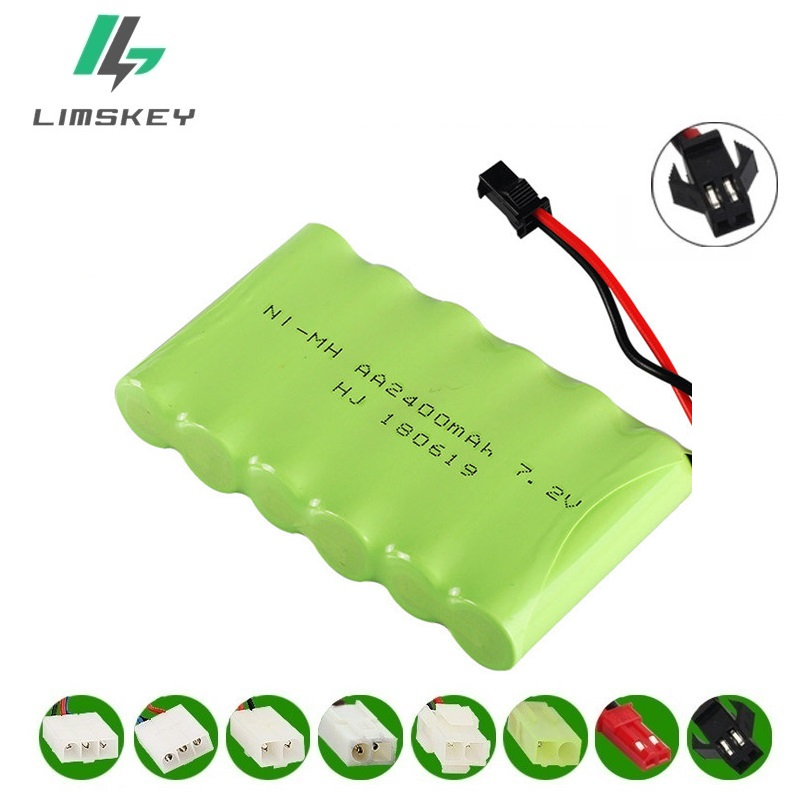 1Pcs/lot 2400mah 7.2v rechargeable pack battery NiMH 7.2v AA NiMH battery 7.2v for Remote control electric toy Car Boat Tank Gun1Pcs/lot 2400mah 7.2v rechargeable pack battery NiMH 7.2v AA NiMH battery 7.2v for Remote control electric toy Car Boat Tank Gun