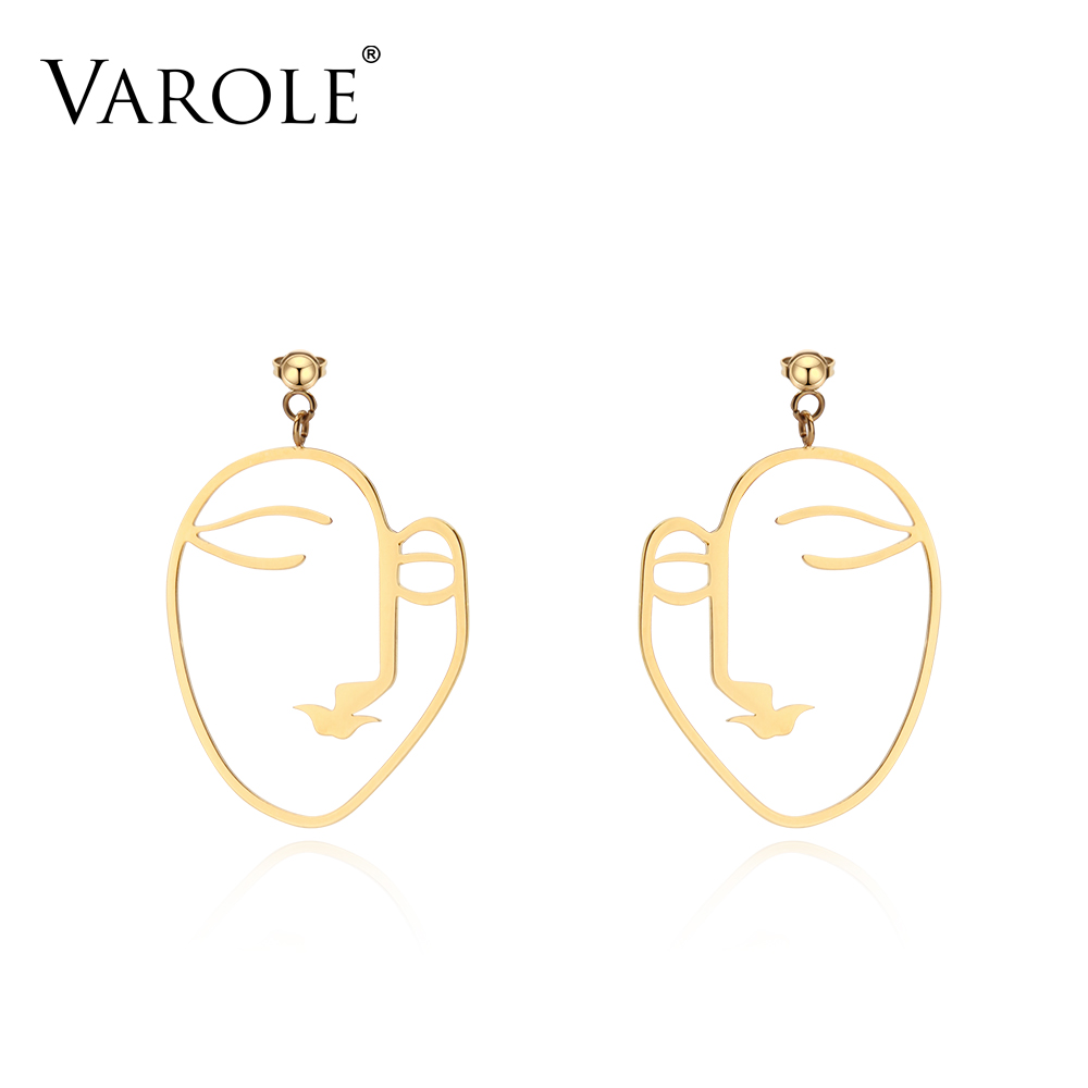 Wondrous Varole New Simple Style Woman Face Shape Earrings For Women Gold Natural Hairstyles Runnerswayorg