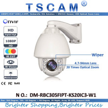 TSCAM new HD 1080P 2.0MP DM-RBC305FIPT-KS20IC3-W1 Outdoor IR Speed Dome Camera 20X Optical Zoom Lens IP Camera with Wiper