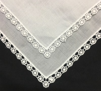 Set Of 12 Fashion Ladies Handkerchiefs White Cotton Wedding Bridal Handkerchief Vintage Embroidered Lace Hankie Hanky 12x12-inch