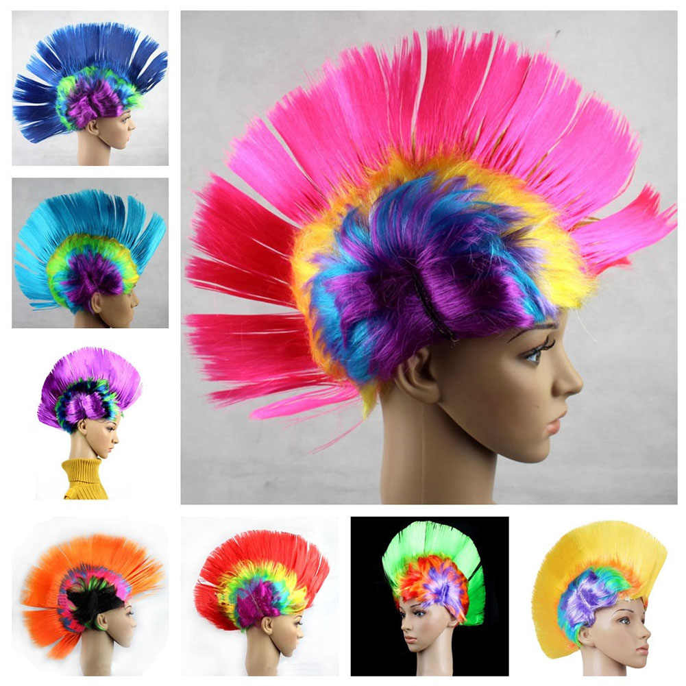 Halloween costume  Wigs Bar KTV Products Acting Funny Wig Color Comb Hair Cock Hair