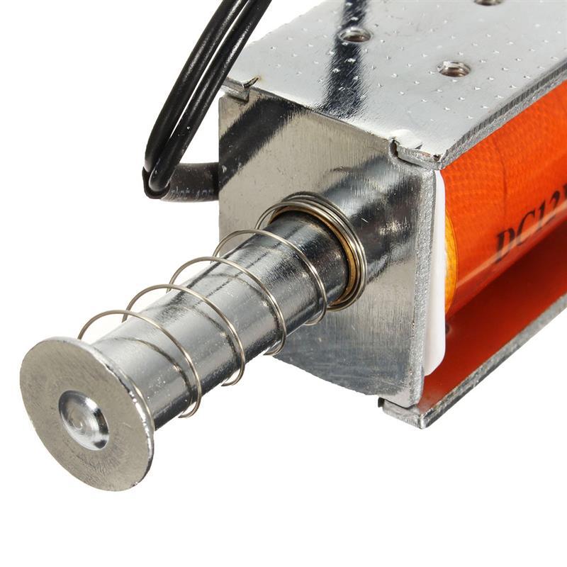 Удобный 35 мм длинный ход нажимной соленоид DC12v небольшой электромагнитный Электрический магнит прочный в использовании