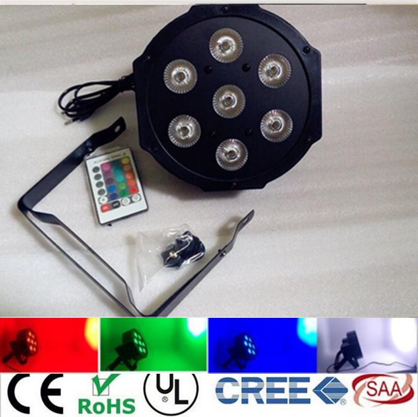 Wireless remote control  7x12W American DJ Mega Quad Par Profile Bright Stage LED Wash Light RGBW Color Mixing dj control