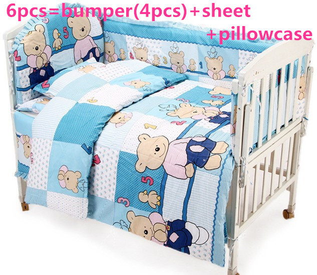 Promotion! 6PCS baby bedding set cotton,120*60/120*70cm curtain crib bumper baby cot sets baby bed ,120*60/120*70cm promotion 6 7pcs cartoon 100% cotton baby bedding set crib bumper baby cot sets baby bed crib product 120 60 120 70cm