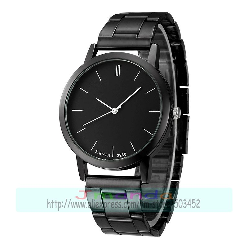 100pcs lot kevin 2280 new arrival couple watch black dial and white dial wrap quartz alloy