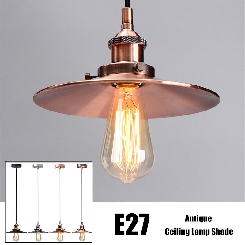 vintage antique lamp cover ceiling metal edison pendant. Black Bedroom Furniture Sets. Home Design Ideas