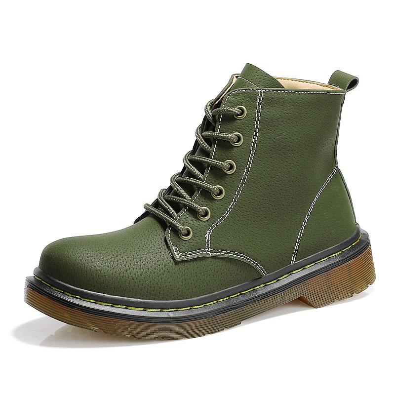 Femme Air Bottes Hiver brown Black Chaussures Martin green Pour Cheville Qualité Véritable Haute De Femmes Cuir Plein L'automne Mode En Neige BExZSfq0n