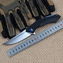 Survival Folding Knife Blue Moon G10 Handle D2 Blade Tactical Camping Hunting Combat Pocket Knives Portable EDC Rescue Tools