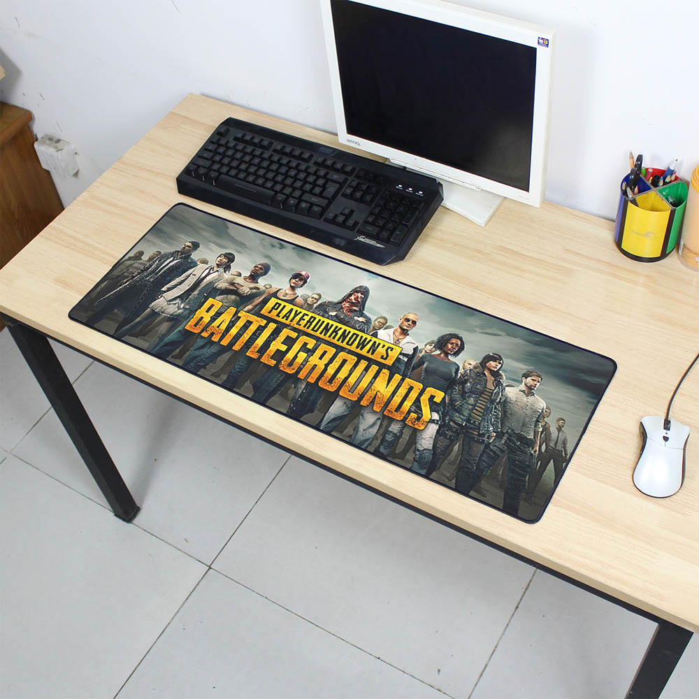 PLAYERUNKNOWNS BATTLEGROUNDS mouse pad gamer 800x300X3MM pubg gaming mousepad notebook pc accessories padmouse ergonomic mats