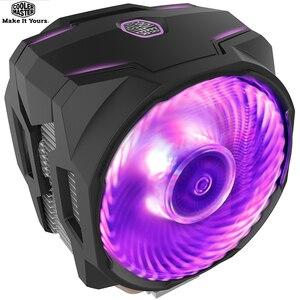 Image 1 - Cooler master 6 cobre radiador cpu, cooler t610p para intel 1155 1156 amd am4 cpu radiador 12cm rgb 4pin ventilador de cpu de refrigeração, pc silencioso