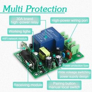 Image 5 - 30A Wifi relais commutateur ca 110V 220V 1CH bricolage Modules dautomatisation récepteur maison intelligente et émetteur récepteur universel Ev1527 433MHz RF