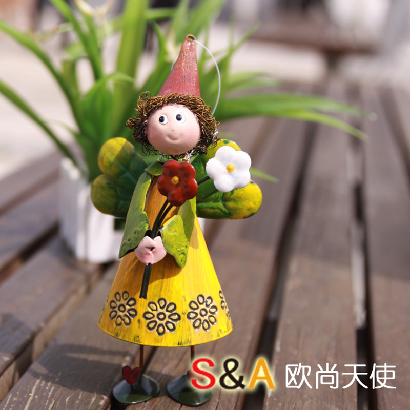 Online Buy Wholesale metal garden figures from China metal garden
