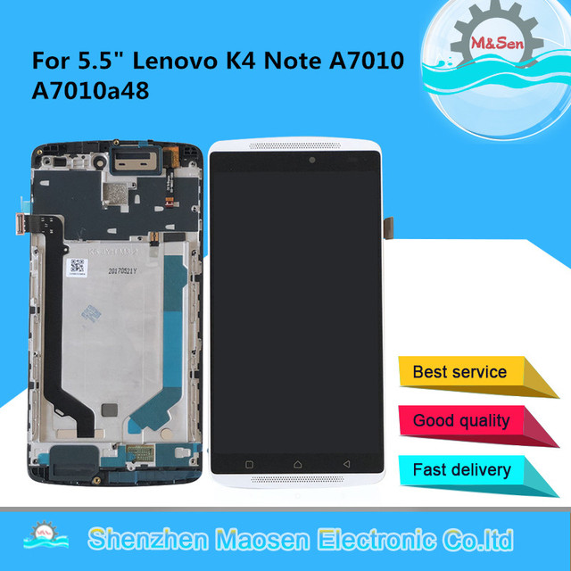 Original M&Sen For Lenovo K4 Note A7010 A7010a48 LCD Screen Display+Touch Panel Digitizer For Vibe X3 Lite K51c78 X3L Lcd Frame