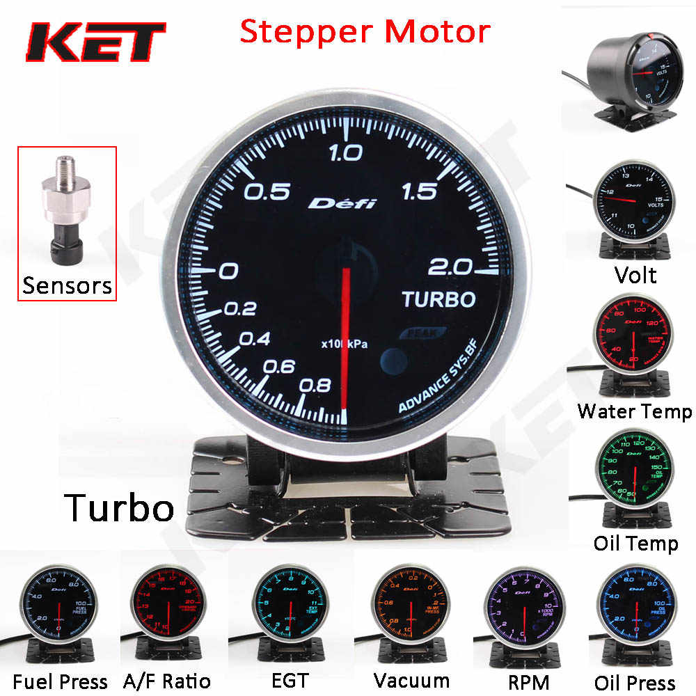 defi advance bf 2 5inch 60mm 7 colors stepper motor electronic sensor turbo  water temp oil