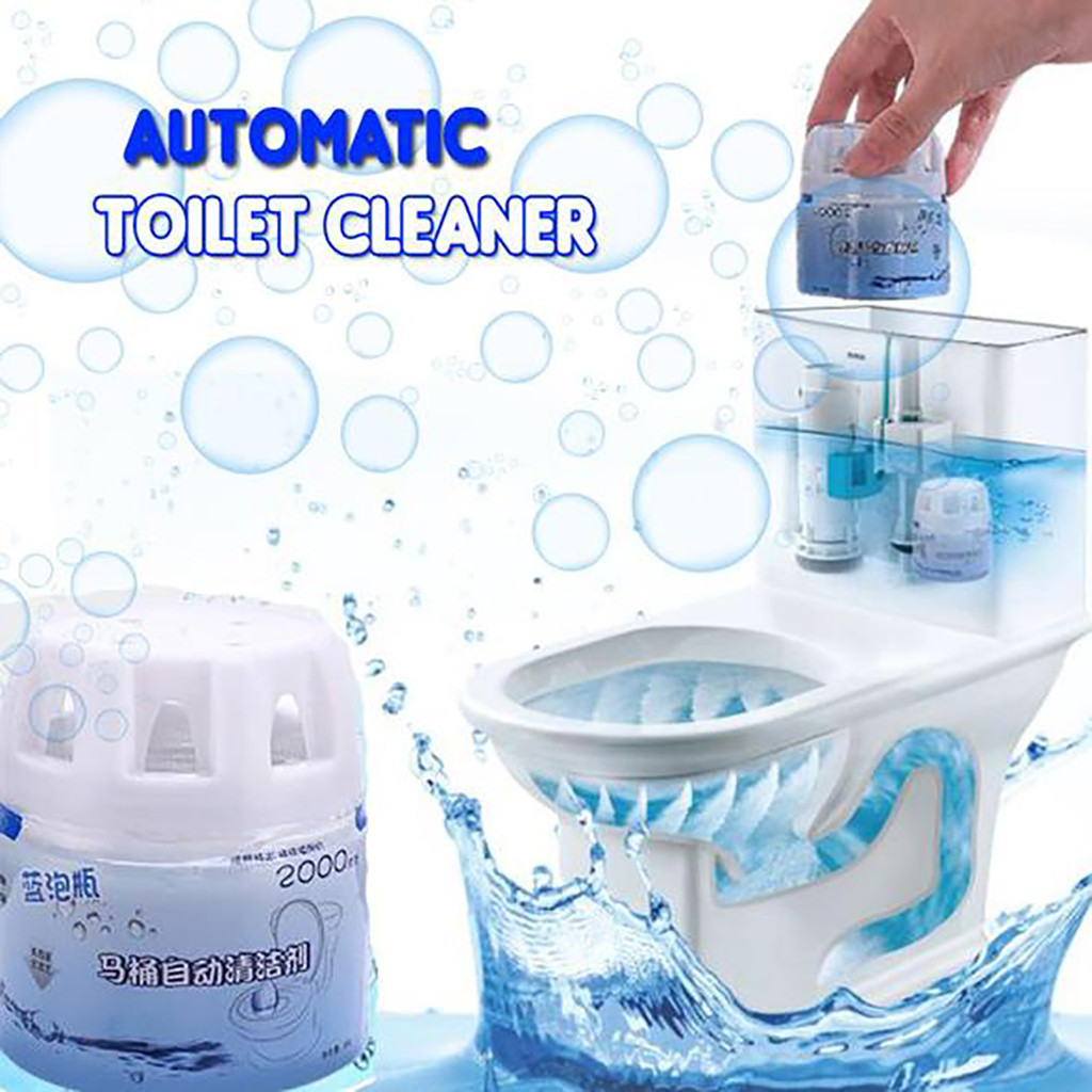 Foaming Cleaners 2019 Autoile Automatic Toilet Cleaner Magic Flush Bottled Helper Blue Bubble Amazing