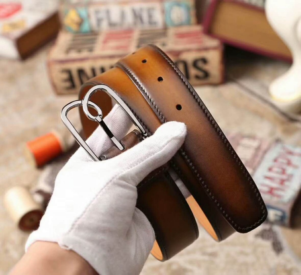 Dimy Real Genuine Leather Belt Without Automatic Buckle Strap Designer Belts Men High Quality cinturon hombre men without women