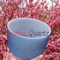8 Inch A Indigo Third Eye Chakra Frosted Quartz Crystal Singing Bowl