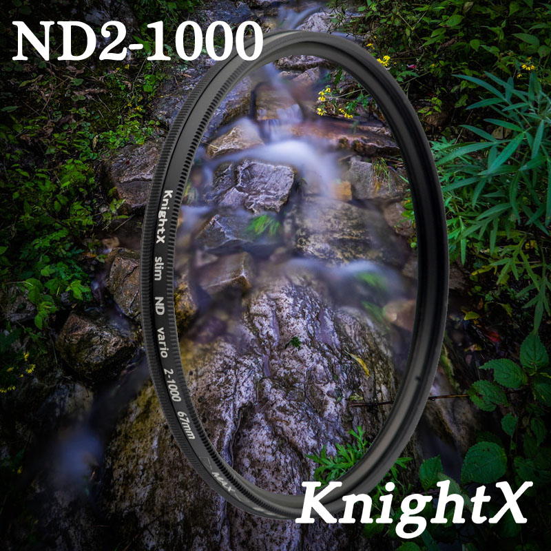KnightX ND2 to ND1000 ND1000 ND400 52 58 67 mm Neutral density nd filter Glass For Nikon canon t5 D3200 D5200 d5300 d3300 Lens