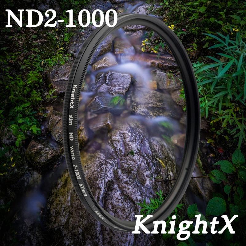 KnightX ND2 à ND1000 ND1000 ND400 52 58 67mm densité Neutre nd filtre En Verre Pour Nikon canon t5 D3200 D5200 d5300 d3300 Lentille