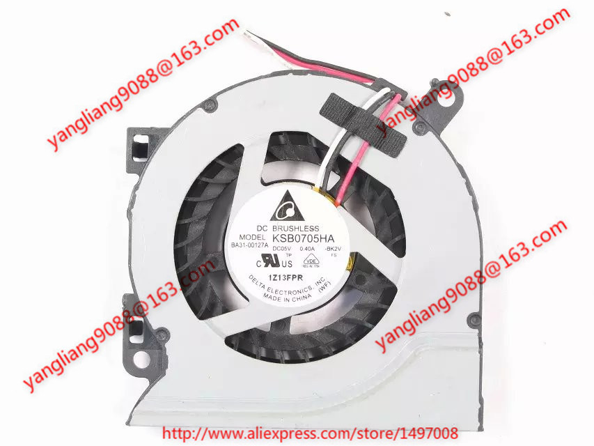 Free Shipping For DELTA  KSB0705HA, -BK2V DC 5V 0.40A 3-wire 3-pin connector 30mm Server Cooling Blower fan free shipping for delta afc0612db 9j10r dc 12v 0 45a 60x60x15mm 60mm 3 wire 3 pin connector server square fan