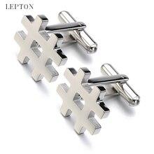 цены на Mens Jewelry stainless steel cufflinks Lepton Silver Color  business cuff links blank cufflinks Wedding Party Best Gift gemelos  в интернет-магазинах