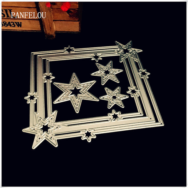 Panfelou Metal Craft Romantic Picture Frame Stars Paper Die Cutting