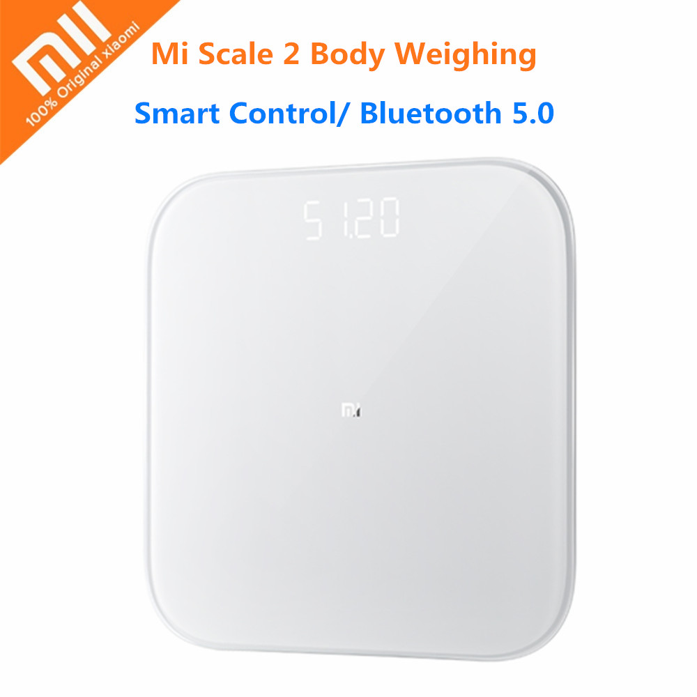 Xiaomi Mi Body Weighing Smart Weight Scale 2 Bluetooth 5.0 Digital Health Weight Scale Mifit APP Support Android 4.3 iOS 9