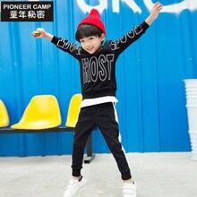 Pionnier Enfants 2017 Nouveau 2-10 T Bébé Garçons Vêtements Ensembles Enfants costume Automne Unisexe Coton Ensembles Pull Garçon Vêtements Fille Enfant vêtements
