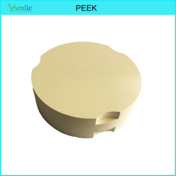 PEEK Material Partial Denture Frameworks 95mm Yellow nature pink white color for zirkonzahn system