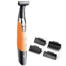 אחת להב גברים זקן גוזם גוף טיפוח ראש זמירה זיפים חשמלי גוזם פנים כלי עיצוב שיער מכונת חיתוך תספורת