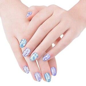 Image 5 - Biutee Nail Stempelen Platen Stamper Schraper Nail Template Bloemen Geometrische Patronen Diy Nagel Ontwerpen Manicure Stempel Plaat