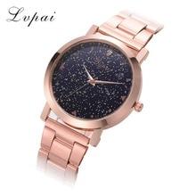 Women Dress Watches Rose Gold Stainless Steel Lvpai Brand Fashion Ladies Wristwatch Creative Quartz Clock Cheap Luxury Watches