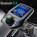 Автомобильный MP3 музыкальный плеер JINSERTA 2021 Bluetooth 5,0 приемник FM-передатчик двойной USB QC3.0 зарядное устройство U-диск/TF карта без потерь музыки