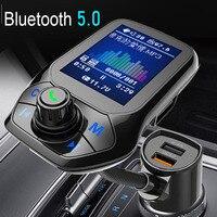 JINSERTA 2021 Car MP3 Music Player ricevitore Bluetooth 5.0 trasmettitore FM Dual USB QC3.0 caricatore U disk / TF Card lossless Music