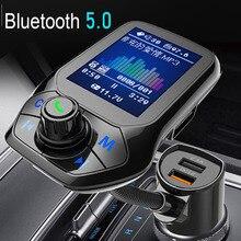 Jinserta 2021 Auto MP3 Muziekspeler Bluetooth 5.0 Ontvanger Fm-zender Dual Usb QC3.0 Lader U Disk/Tf Card lossless Muziek