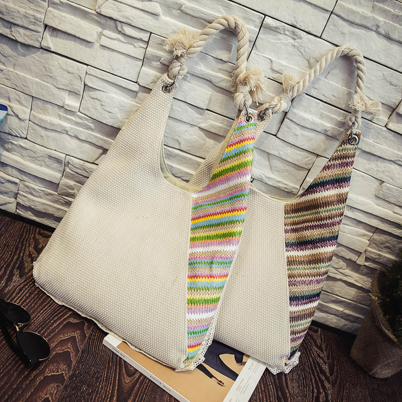 ФОТО Bags Handbags Women Famous Brands Knitting Hobos Ladies Shoulder Bag Large Capacity Fashion Women's Canvas bag Dollar Price