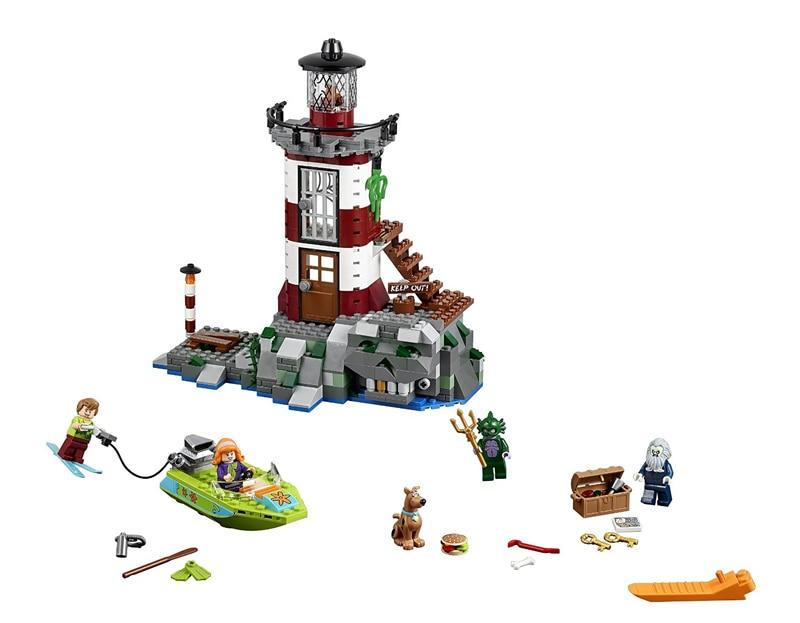 Pogo Gifts Bela 10431 Haunted Lighthousecooby Scooby Doo Dog 3D Building Blocks Bricks Toys Compatible Legoe pogo lepin bela 10430 scooby doo mystery machine scooby doo building blocks bricks toys compatible legoe