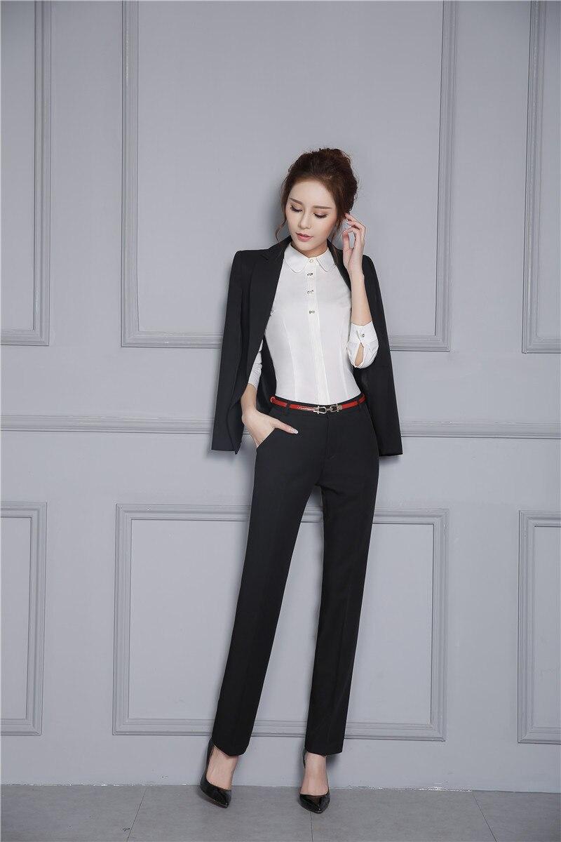 Abiti Da Dei Giacche Di Autunno Inverno Con Giubbotti Signore Lavoro Modo E Set Affari Nuovo Delle Professionale Sottile Pantaloni Black q41A4Xw