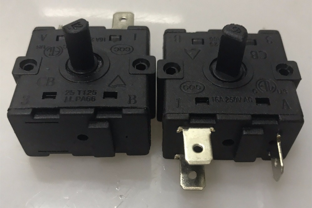 Electric Room Heater 3 Position 3Pin Rotary Switch Selector AC 250V 16A 250v 16a 3 pin terminals temperature control switch capillary thermostat 250v
