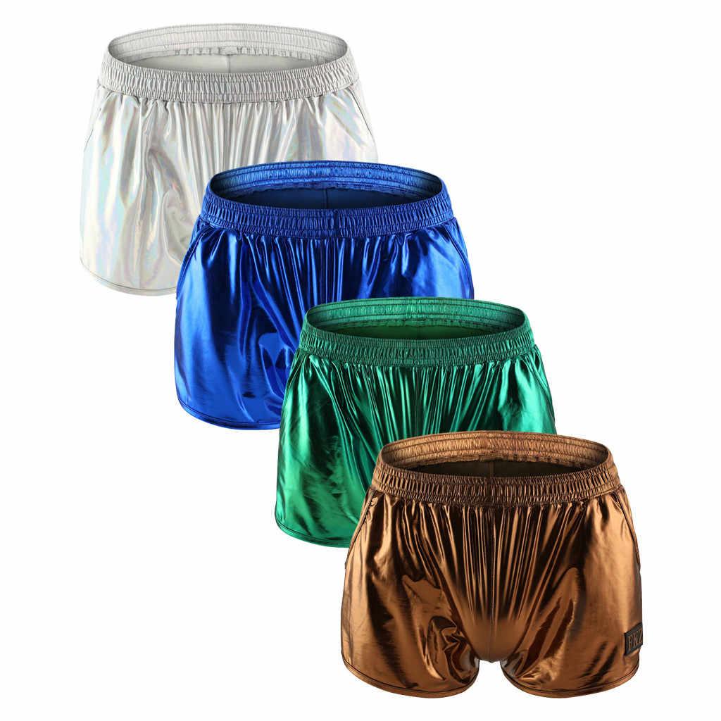 Feitong セクシーなライトショーツ男性ファッション 2019 夏の新鮮な速乾性の男性眩しい固体ボディービルショーツ Hombre