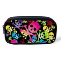 Cartoon Skull School Pencil Bags Girl Cosmetic Case Organizer for Make up Kawaii Kids Pencil Box Pouch Travel Women Makeup Bag