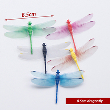 10PCS/Lot Artificial Dragonfly Garden Decorations Simulation Stakes Yard Plant Lawn Decor Fake Butterefly Random Color