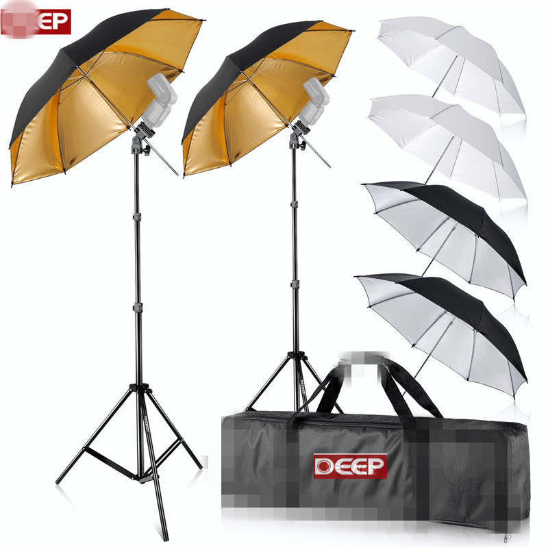 84cm Reflective Umbrellas Kit Flash Mount 200cm light stand Shoemount B-Type Brackets Carrying Bag for Photography backgrounds zest umbrellas 24755
