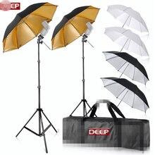 84 cm Yansıtıcı Şemsiye Kiti Flaş Dağı 200 cm ışık Shoemount B-Tipi Konsollar Fotoğraf için Taşıma Çantası standı arka